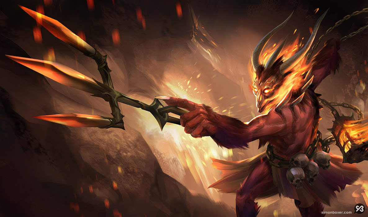 Demon devil thresh reskin league of legends LoL